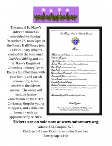 Advent Brunch Bulletin Insert